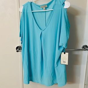 Open- Shoulder Dana Buchman blouse